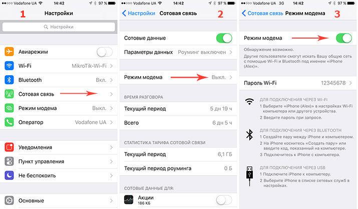 как раздать wifi на iphone